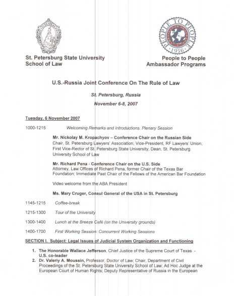 St. Petersburg Documents