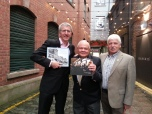 Mairtin O'Muilleoir, former mayor of Belfast, current North Ireland Assemblyman and Sinn Finn politician; Richard Pena, Delegation Leader; and Sammy Douglas, Northern Ireland Assemblyman.